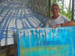 Artist displays his work to the world