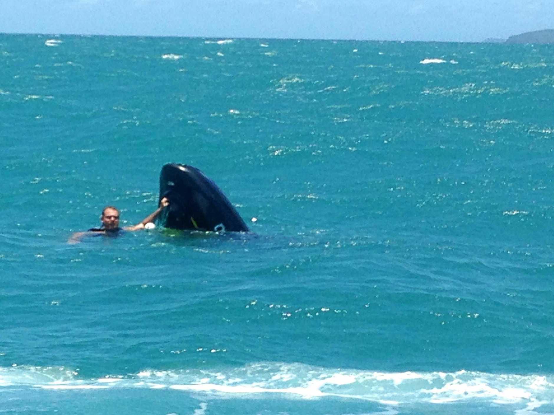 Dramatic rescue as jet ski sinks | Morning Bulletin