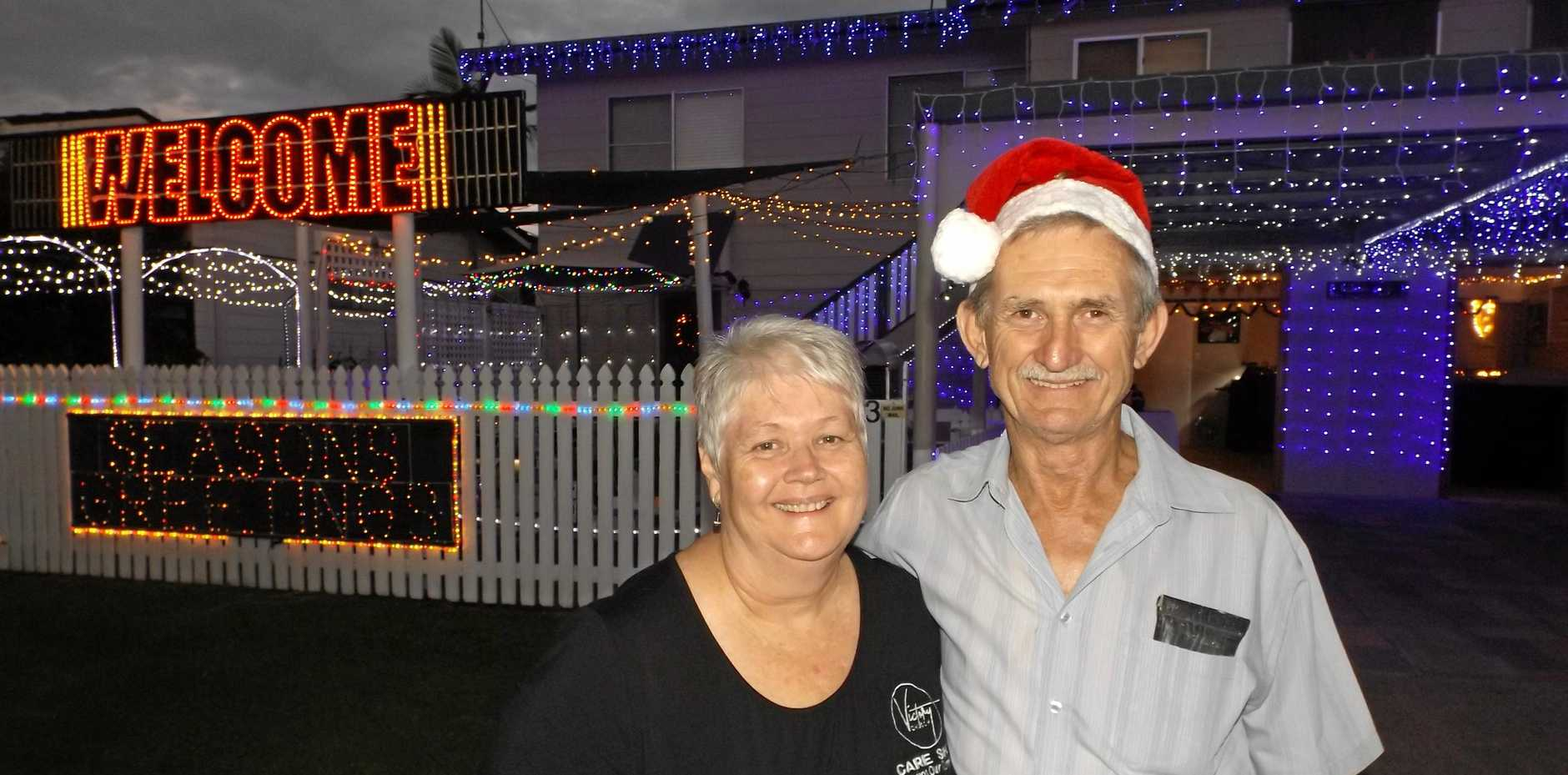 Alexandra and Malcolm Weber love to light up their home to spread the Christmas cheer. They are marked on the map at 53 Thurecht St, Maryborough.