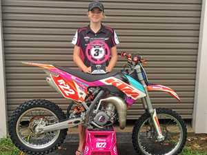 Riley Carvosso placed third in the Go Girls racing Aus mx series.