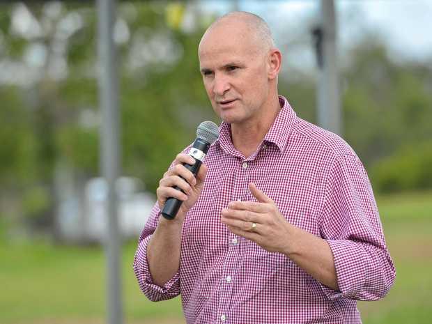 NEW POSITION: Gladstone MP Glenn Butcher at the opening of the Mount Larcom Community Hub in November.