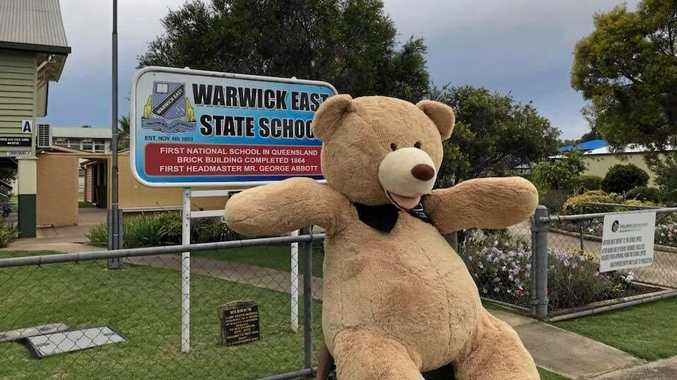 Principal of Warwick East State School Marina Clarke shared this picture of a special visitor who popped in to see students on the last day of school.