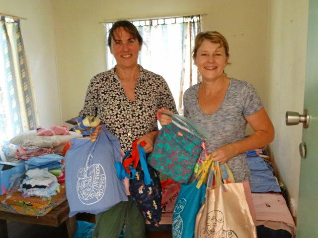 LIFESAVERS: Debbie Butters with midwife Sharon Hemetsberger in PNG.