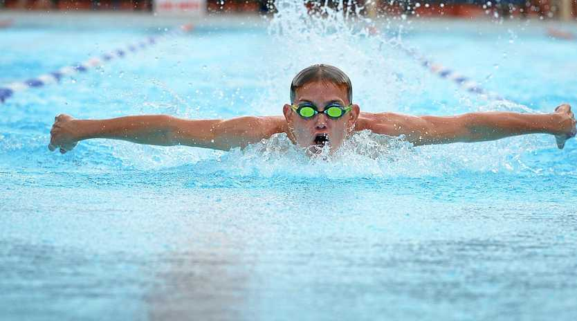 BREAKING THE RECORDS: Gympie swim sensation Troy Carlson claimed a winning haul of five gold medals and two silver at the recent Pacific School Games in Adelaide last week.
