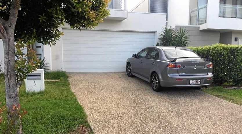 Birtinya's Reese Gerhard has copped a $94 fine for parking on his own driveway.