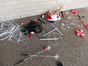 Destroyed lights dim Bundaberg family's Christmas spirit