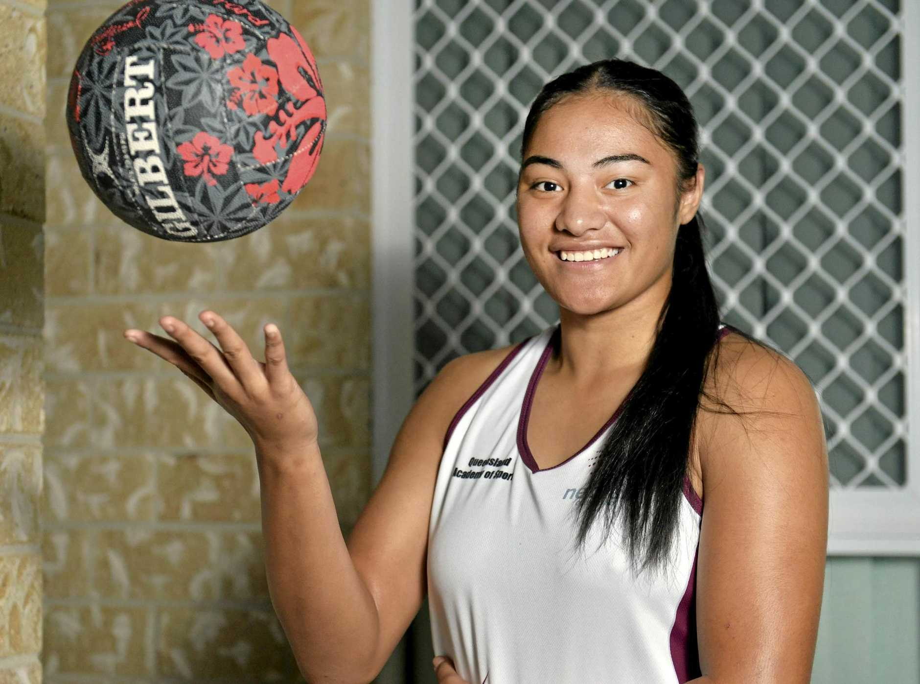 RISING STAR: Sarahpheinna Woulf has been selected in the Sunshine Coast Lightning's full-time squad.