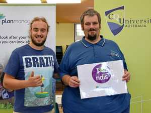 NDIS event helps Rocky man find new study options