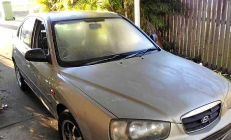 The stolen Hyundai Elantra