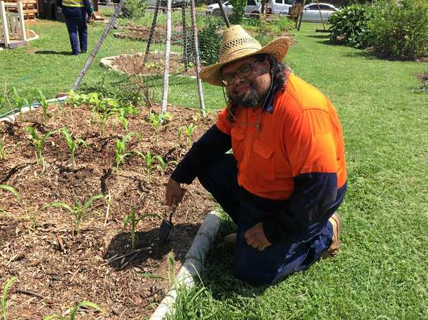 SHANE'S DREAM JOB: Shane Tull, one of 13 trainees undertaking the Skilling Queenslanders for Work initiative, says he wants to use the skills he learns through the program to become a park ranger one day.