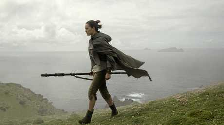 Daisy Ridley in a scene from the movie Star Wars: The Last Jedi. Supplied by Disney.