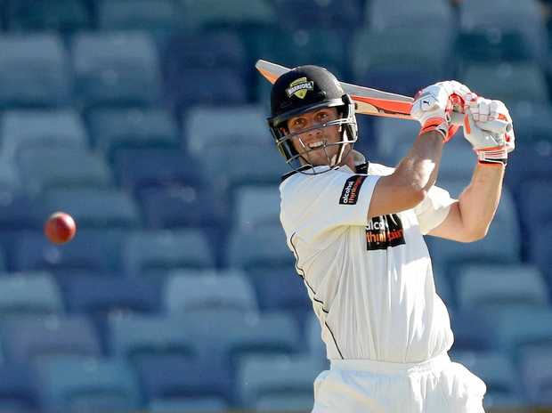 Mitch Marsh bats for Western Australia in the Sheffield Shield match against Queensland late last month.