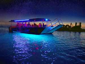 TANGALOOMA TREAT: A glass-bottom boat is a lovely way to see the shipwrecks of Moreton Island in the evening at Tangalooma.