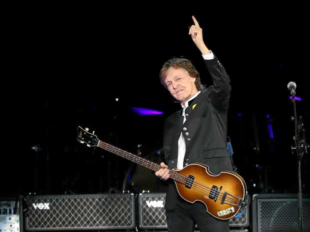 Iconic singer-songwriter and performer Paul McCartney performs at NIB Stadium in Perth on Saturday, December 02, 2017. His 'One on One' tour is his first tour of Australia since 1993. (AAP Image/Richard Wainwright) NO ARCHIVING