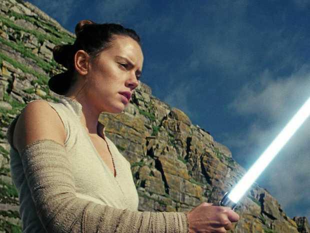 CULT FOLLOWING: Daisy Ridley as Rey in Star Wars: The Last Jedi.