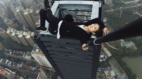 He was famous in China for posting videos and photos hundreds of metres in the air. Picture: Weibo