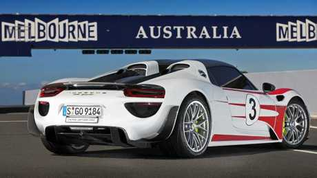 A Porsche 918 supercar has been to Australia, but only as a demo model. Proposed changes could see a limited number of left-hand-drive versions on local roads. Picture: Supplied.