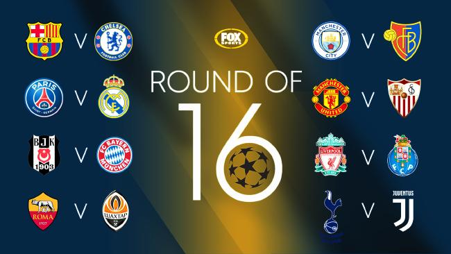 The full UCL Round of 16 draw