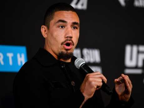 Straight talker Robert Whittaker is setting his sights high. Picture: Getty Images