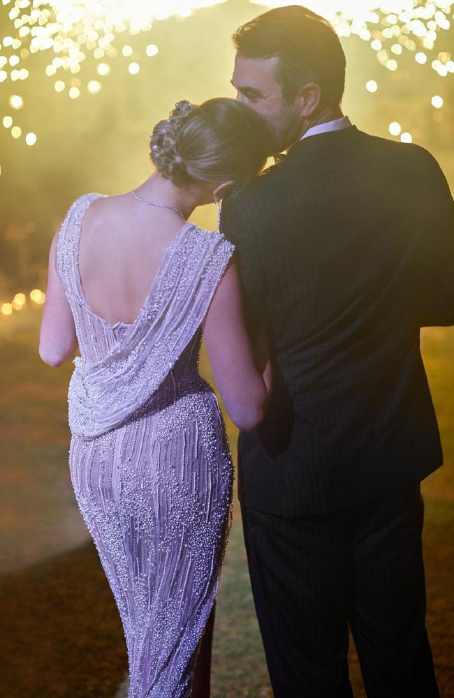 Her reception dress was stunning. Photo Credit: KT Merry/Vogue Magazine