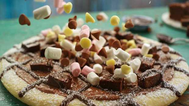 Domino's has launched The Chocoholic Dessert Pizza. Picture: Supplied