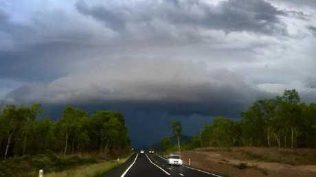 Storm clouds mass near Townsville.