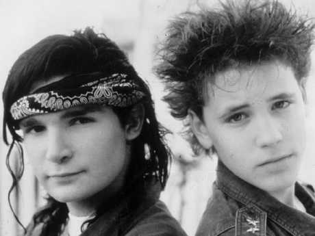 Feldman and friend Corey Haim (right) were 80s child stars.