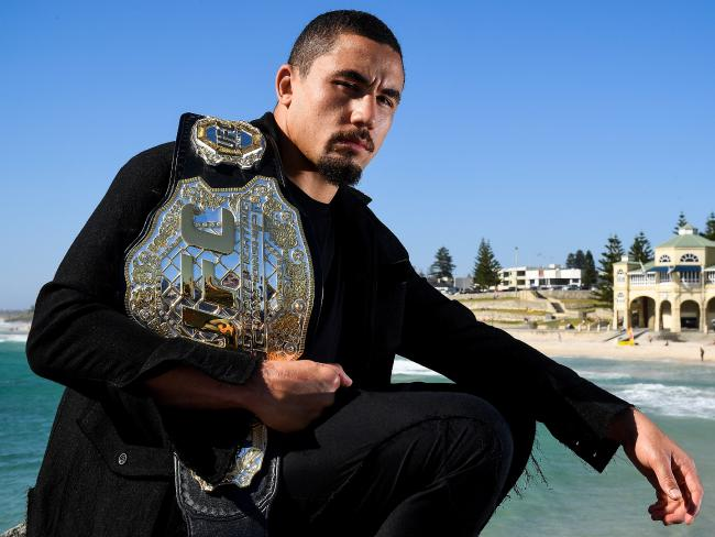 Whittaker is getting a new belt. Picture: Getty Images