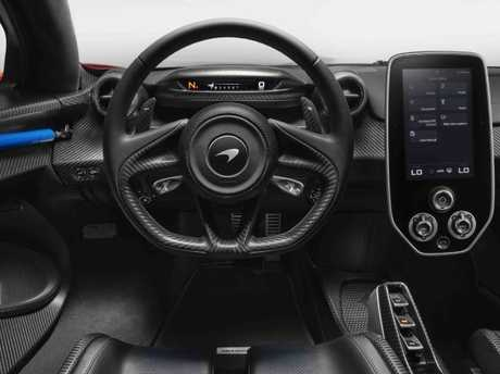 The McLaren Senna's cabin takes minimalism to a new extreme. Picture: supplied