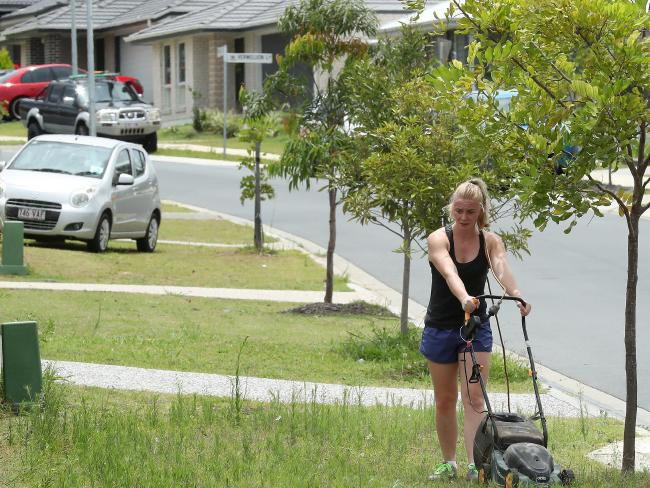 Residents say they were drawn to Yarrabilba because of the affordable new houses and big yards. Picture: Liam Kidston.