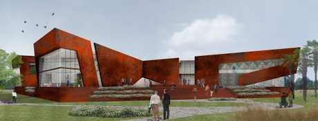 An artist's impression of the proposed INXS museum for Ballina.