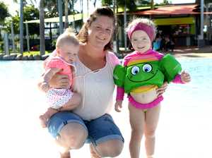 Makayla, Veronica and Alexis Barrett of Mackay enjoy