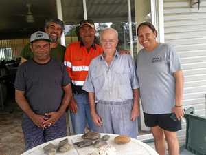 Traditional owners reunited with tools used by ancestors