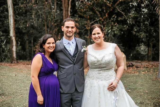 Melanie Sammut (Christopher's sister), Christopher and Kimberley Noble.