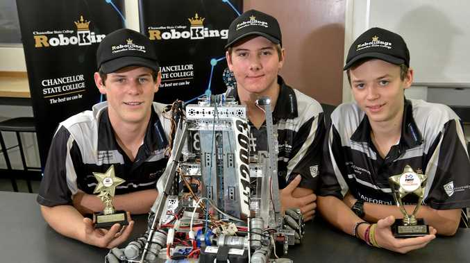 The Chancellor State College team have won a national robotics competition.Year 10 students Declan Baericke, Harry Lythgo and Caleb Mallyon have taken out the award.
