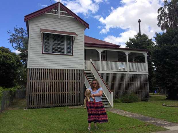 RAISED UP: North Lismore resident, Debbie Childs had her house raised through the voluntary house raising scheme.