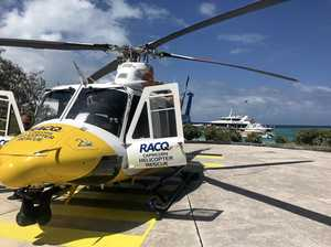 Family man airlifted after snorkelling difficulties at Heron