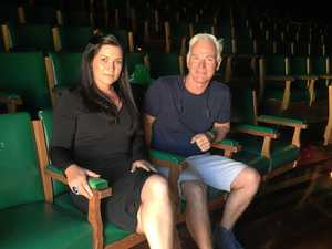 "Survivor John Saunders with Naarah Morgan, CASPA General Manager, at Q&A audience and pane session - ""Life After Sexual Abuse"" - to better understand the trauma inflicted by sexual violence and discuss strategies for support and healing. At  Star Court Theatre in Lismore."