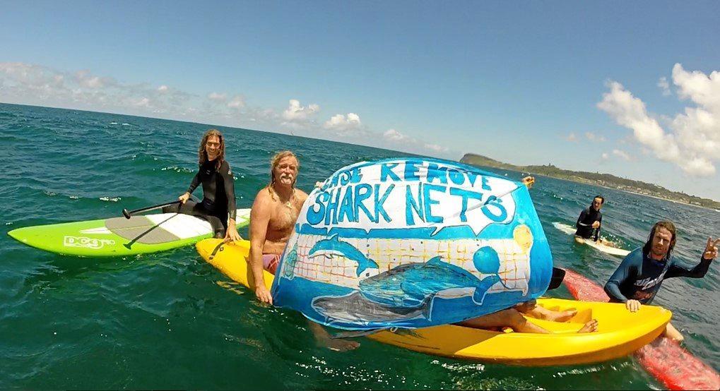 A recent shark net protest.