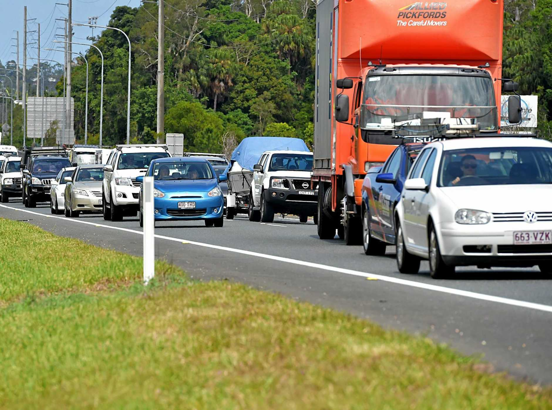 The Sunshine Motorway has been declared the ninth worst road for traffic gridlocks in the state.