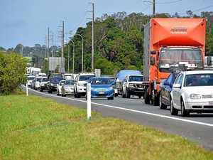Sunshine Motorway gridlock: Four-car crash causes carnage