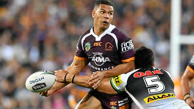 FRANCE AWAITS: David Mead in action for the Brisbane Broncos. He has been signed by English Super League Club Catalans Dragons in France for three years.