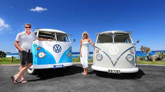 HANG TEN: John and Kaz Martin are bringing their Kombis to life as part of their business.