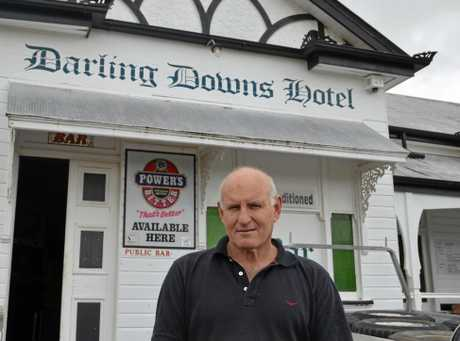 CHANGING HANDS: Gary Little has been the familair face behind the bar at Warwick's historic Sandy Creek Pub for the past 13 years, but will pass the baton to Kev and Karen Kylie. Photo Toni Somes / Warwick Daily News