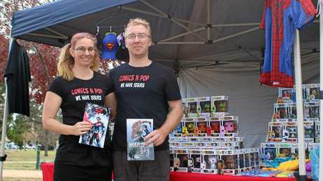 Carla and Simon Thornton are the Warwick locals behind Comics and Pop, a thriving online business. Photo Sophie Lester / Warwick Daily News