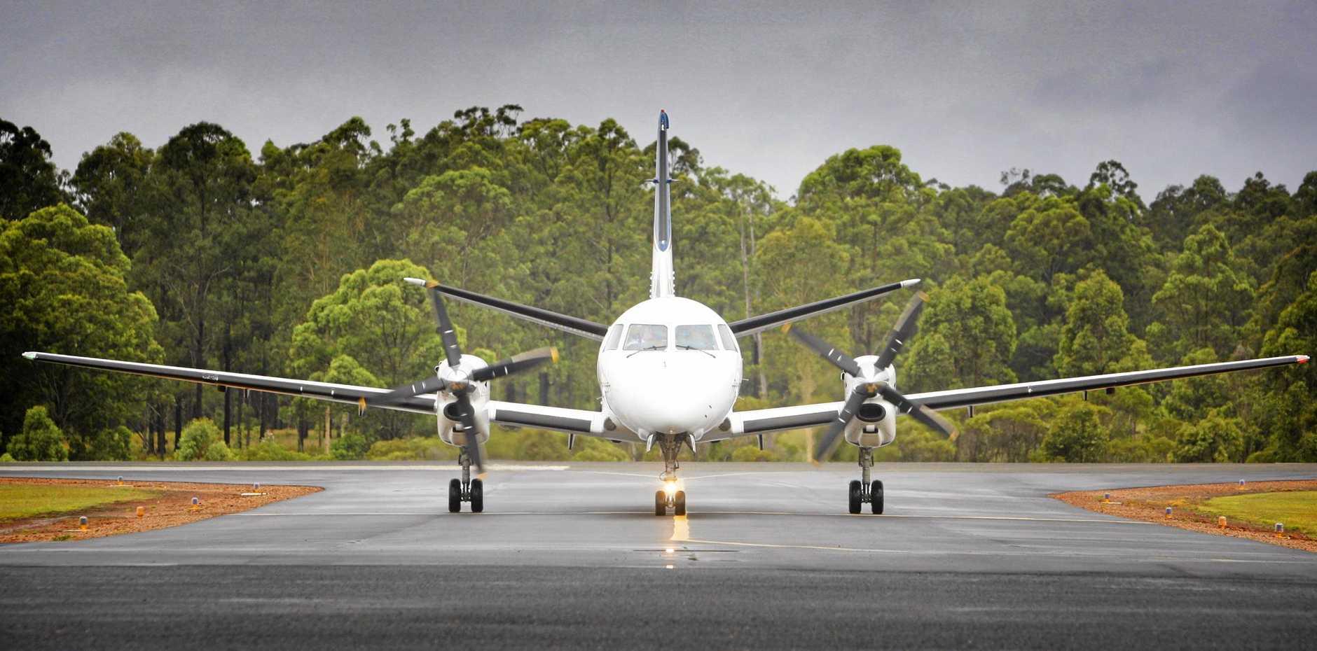 A lightbulb malfunction caused a NSW Air Ambulance aeroplane to trigger an air alarm.