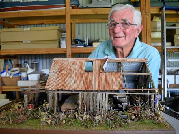 STUNNING: Barry Blaikie has an amazing talent for bringing the old and forgotten back to life, in miniature form.