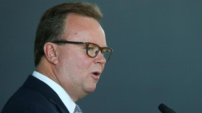 Bill Pulver made one final plea before he finishes as Rugby Australia CEO in December. Pic: Getty Images