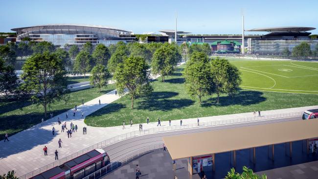 NSW Premier Gladys Berejiklian has pledged $705 million to rebuild Allianz Stadium. (Artist impression.)
