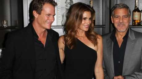 Rande Gerber, Cindy Crawford, and George Clooney are all close friends. Photo: Richard Goldschmidt/Zuma Press